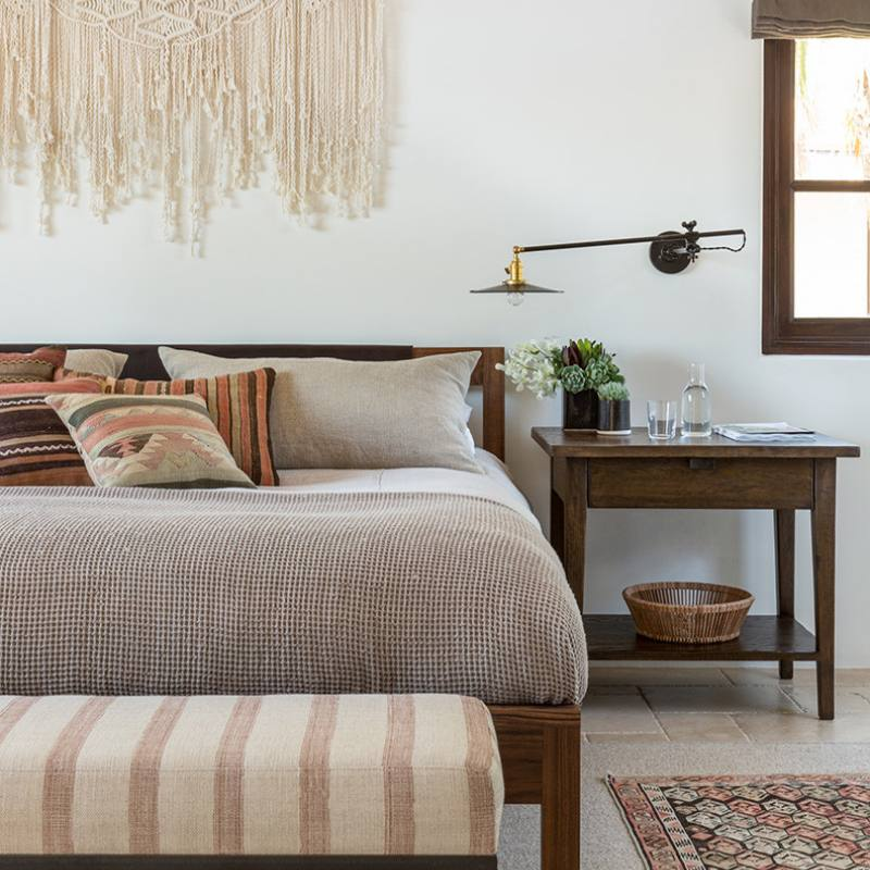 Boho chic modern farmhouse bedroom