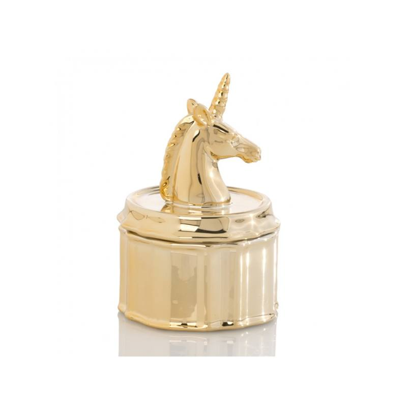 Unicorn Jewelry Jar, Gold