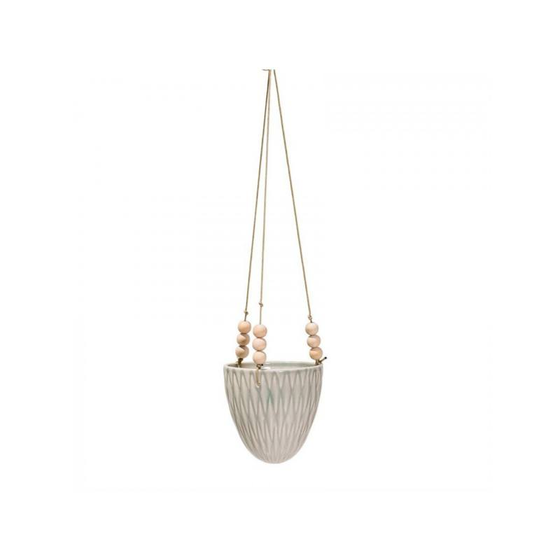 Riley Hanging Planter, Cream