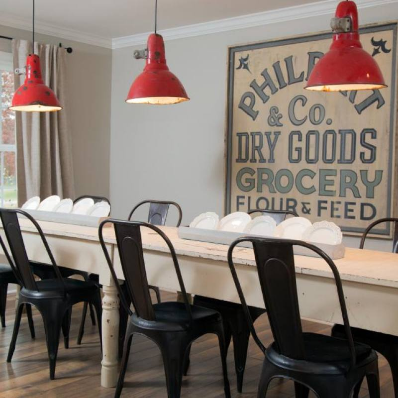 Fixer Upper Gulley dining room