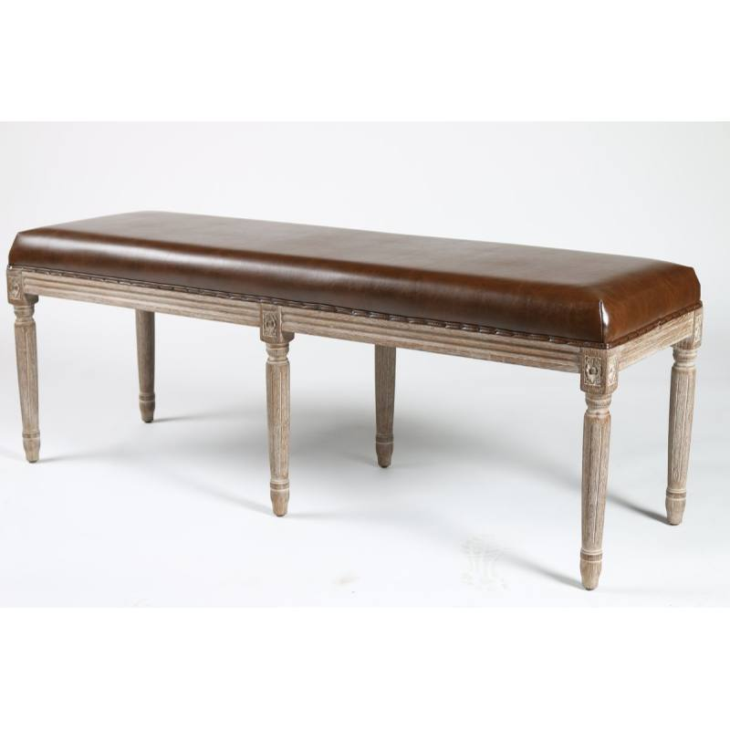 Lafontaine Faux Leather Bench