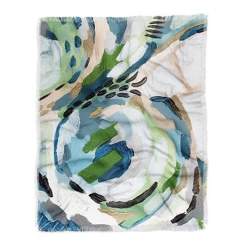 "60""X50"" Laura Fedorowicz Greenery Throw Blanket Green - Deny Designs"