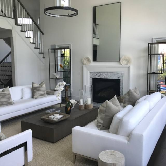 Get the look: White sofa modern living room