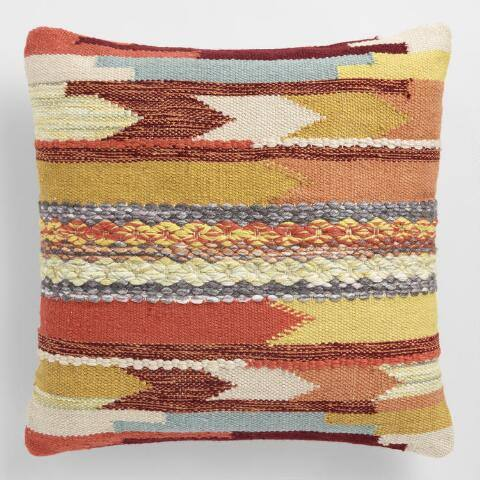 Desert Woven Indoor Outdoor Throw Pillow