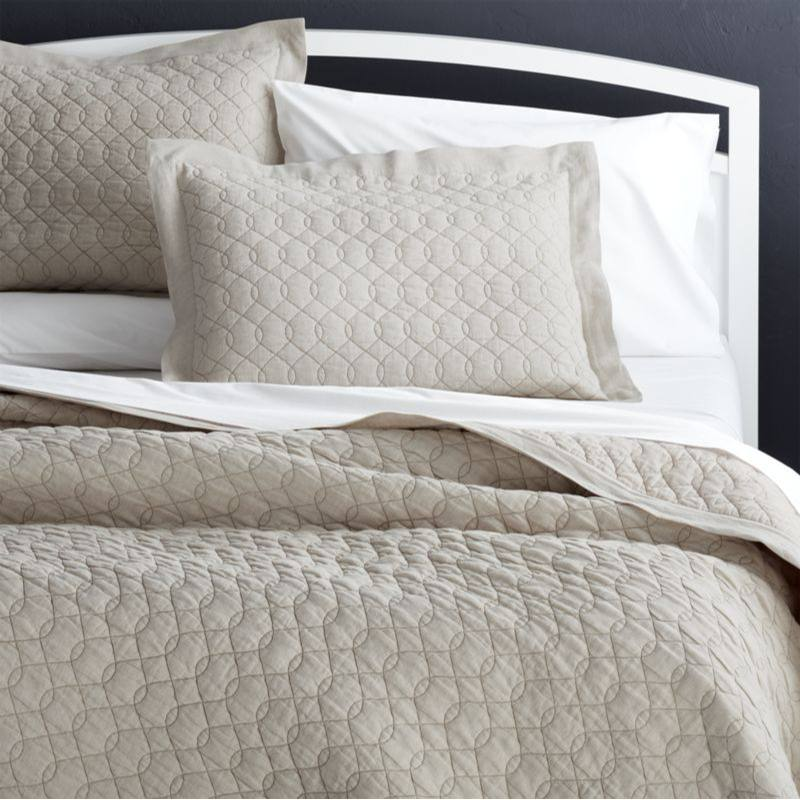 Elize Natural Quilts and Pillow Shams