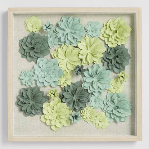 Folded Paper Succulents Wall Art