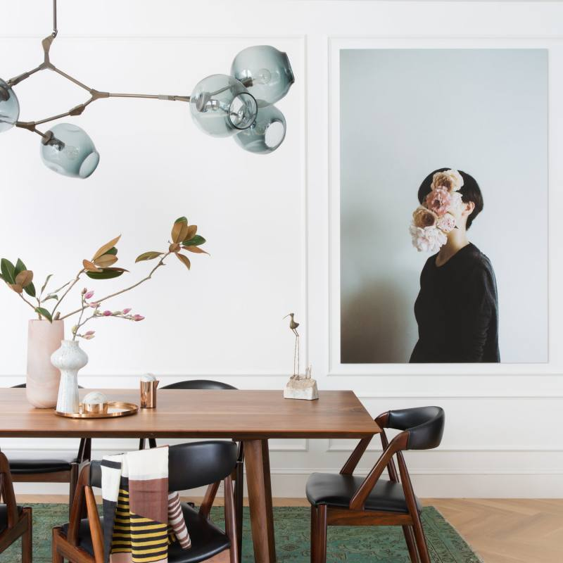 Mid Century Modern Chic Dining room by regan baker