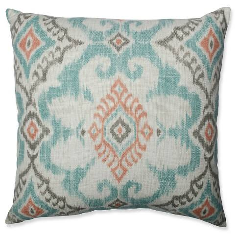 Kantha Surf Throw Pillow - Pillow Perfect�
