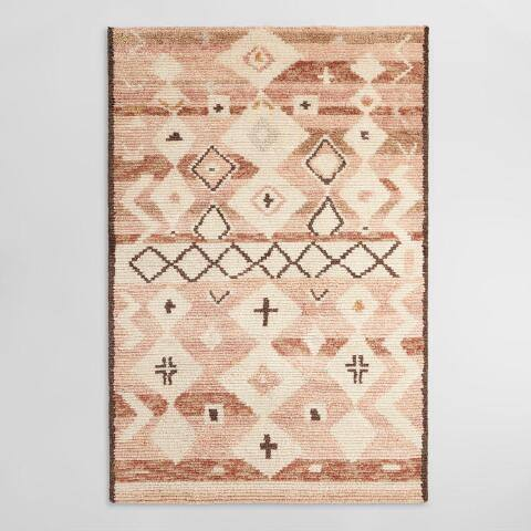 Diamond Moroccan Style Hand Tufted Wool Kamala Area Rug