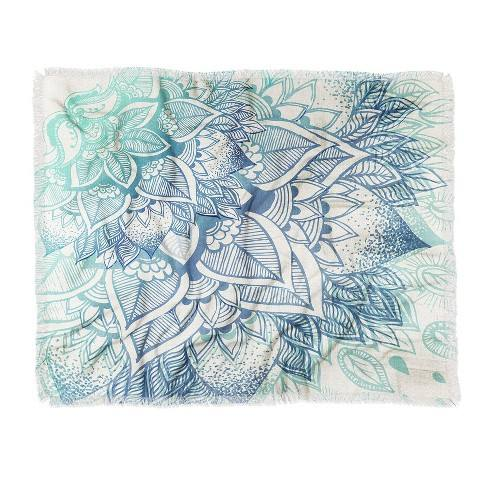"60""X50"" Rosebudstudio Lovely Soul Throw Blanket Blue - Deny Designs"
