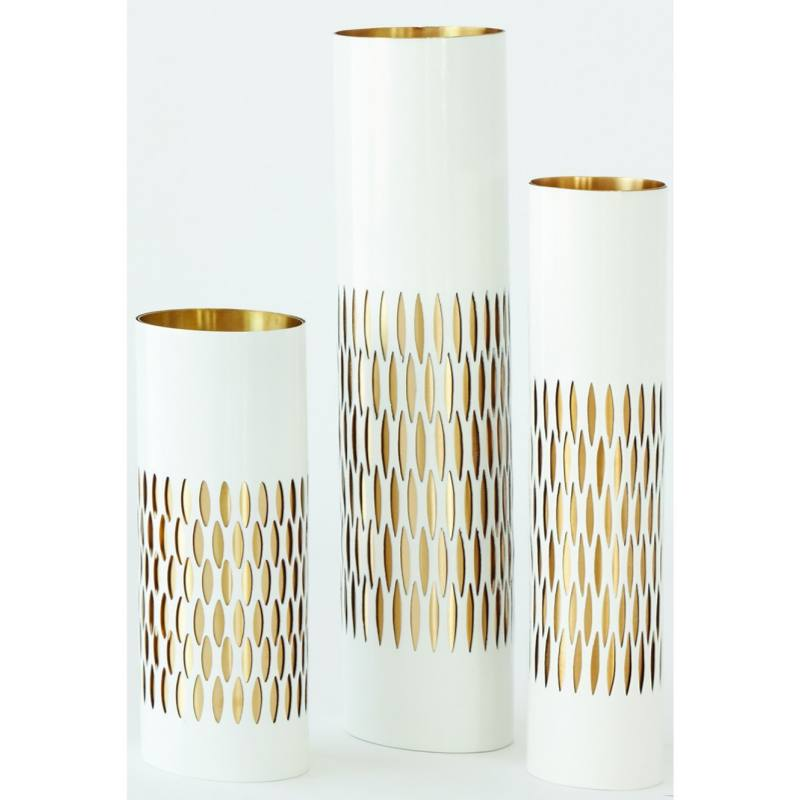 Tessa Vase, White and Gold