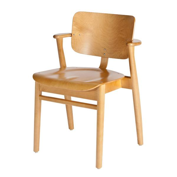 Artek Domus chair, stained honey