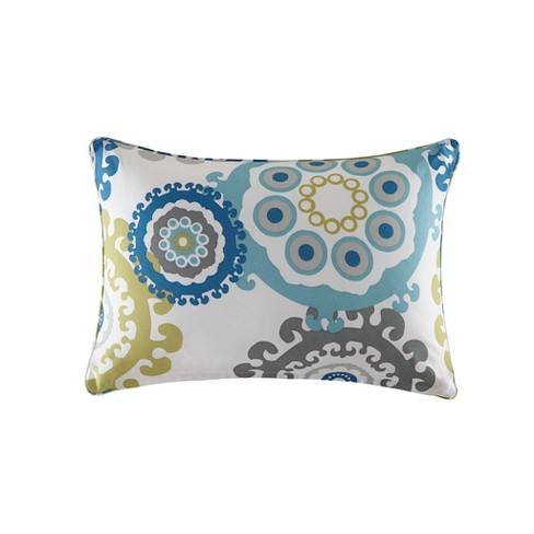 Marina Printed Medallion 3M Scotchgard Outdoor Pillow Blue/Multi - 14x20""