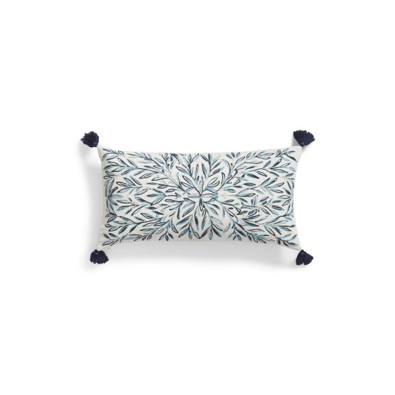 Space Dyed Embroidered Accent Pillow