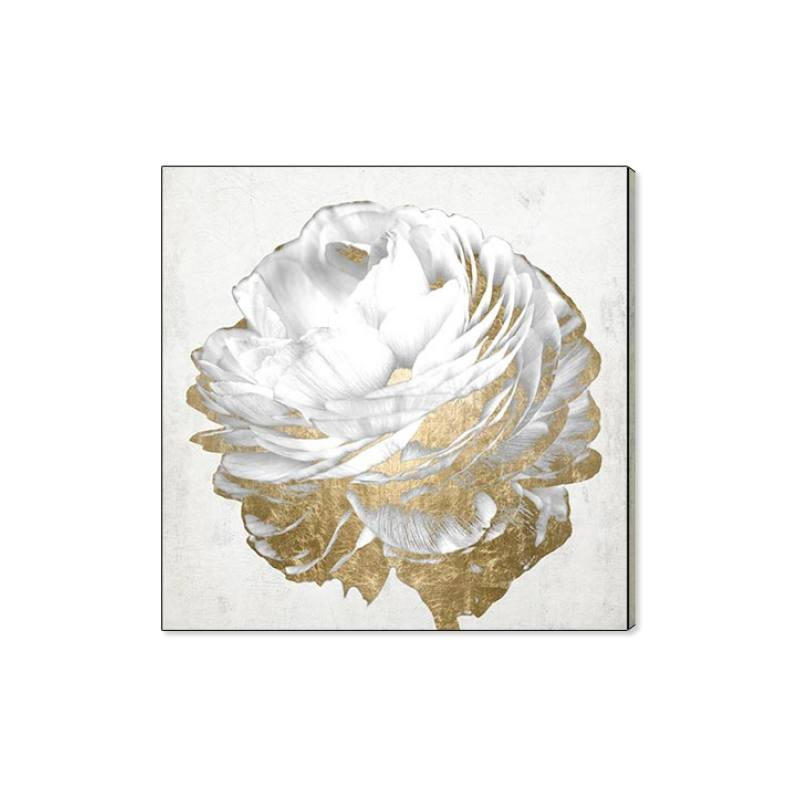 Gold & Light Floral Canvas Wall Art