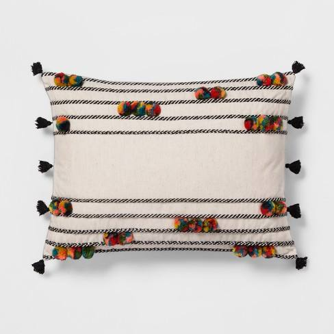 Pom-Pom Lumbar Pillow - Opalhouse�