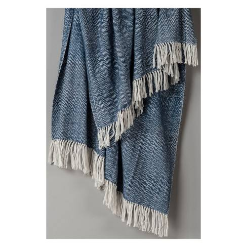 Cotton Herringbone Throw - Rizzy Home