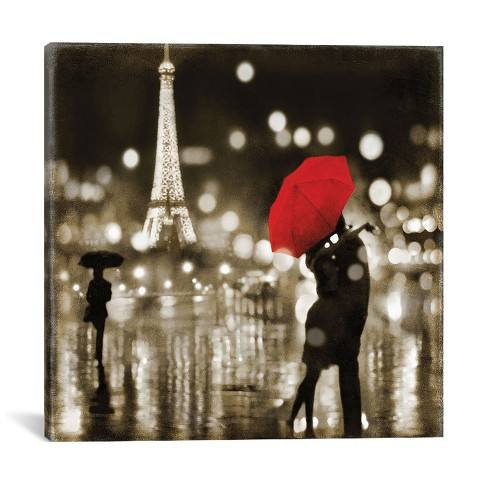 A Paris Kiss by Kate Carrigan Canvas Print 18 x 18 - iCanvas