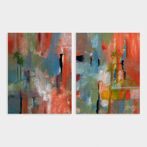 Desert Living by Jan Weiss Canvas Wall Art Set of 2