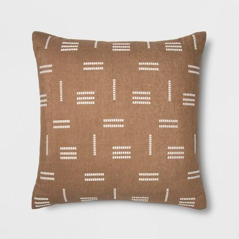 Silk Geo Oversize Square Throw Pillow Neutral - Project 62�