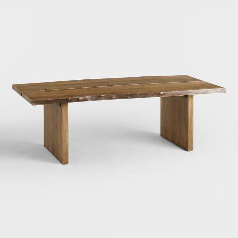 Wood Maleya Live Edge Coffee Table