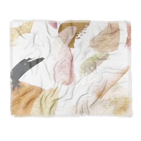 Georgiana Paraschiv Abstract Woven Throw Blanket Brown - Deny Designs