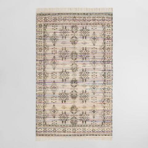 5'x8' Blush Diamond Print Chindi Tiana Area Rug