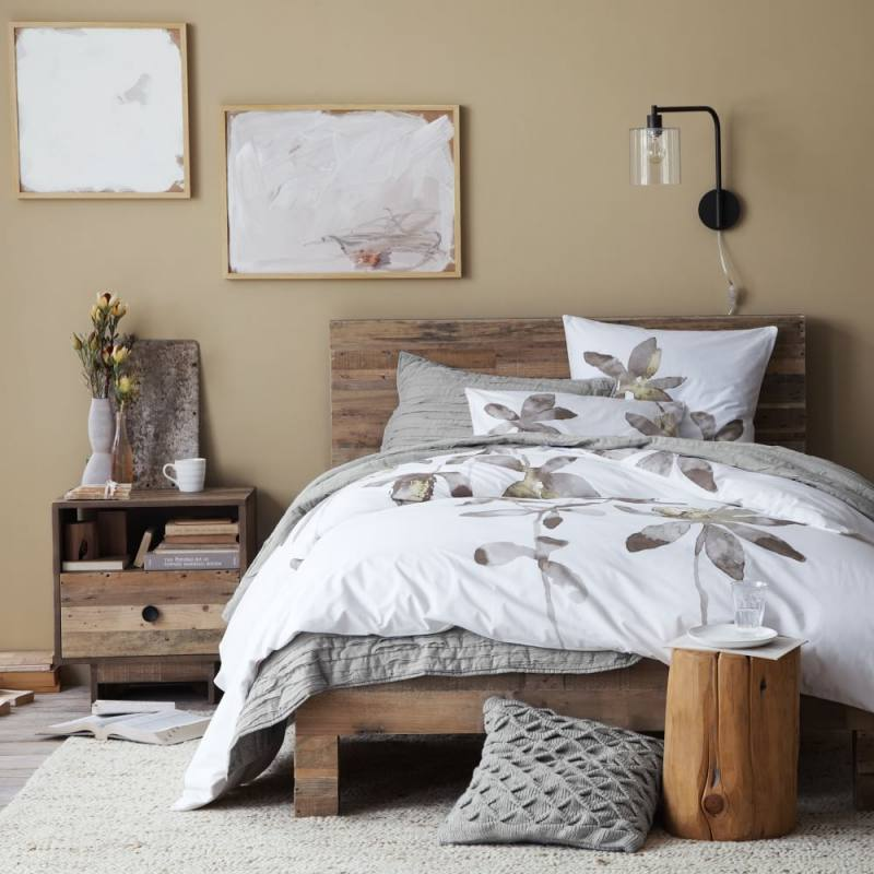 Rustic modern farmhouse style bedroom