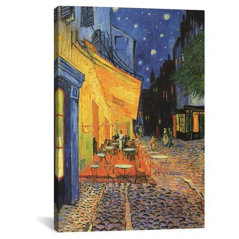 The Cafe Terrace on the Place du Forum (Caf� Terrace at Night) 1888 by Vincent Van Gogh Canvas Print