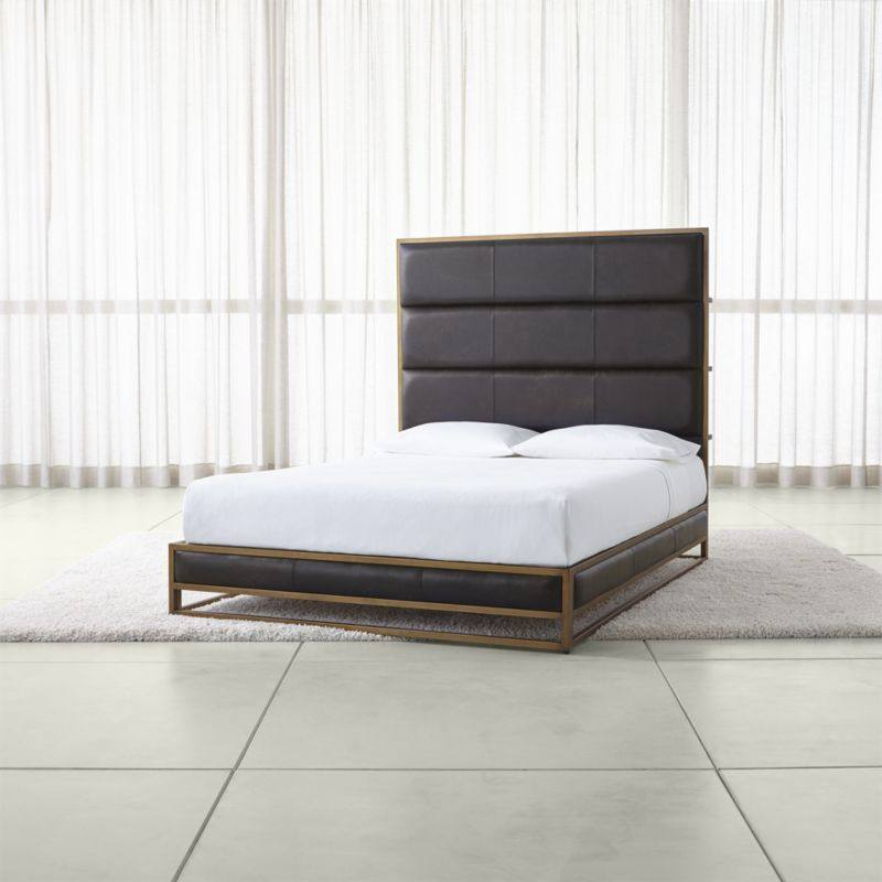 Oxford Leather Bed