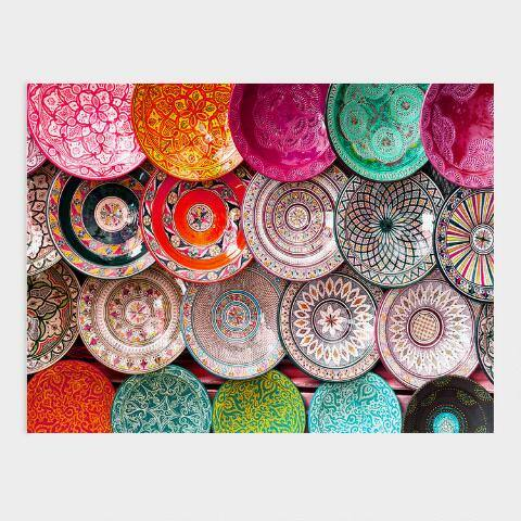 Colorful Artisan Plates Canvas Wall Art