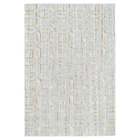 "7'10""X11' Quatrefoil Design Loomed Area Rugs Ice - Room Envy"