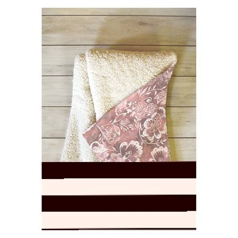 "50''x60"" Jacqueline Maldonado Floral Throw Blanket Pink - Deny Designs"