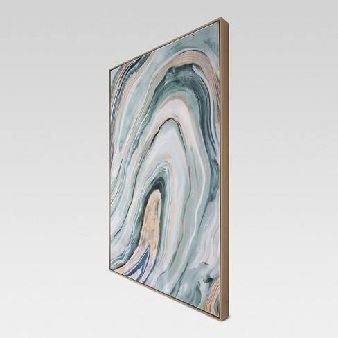"Agate Framed High Gloss Canvas 36""x24"" - Project 62�"