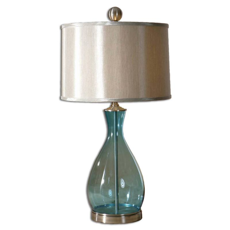 'Meena' Blue Blown Glass Table Lamp