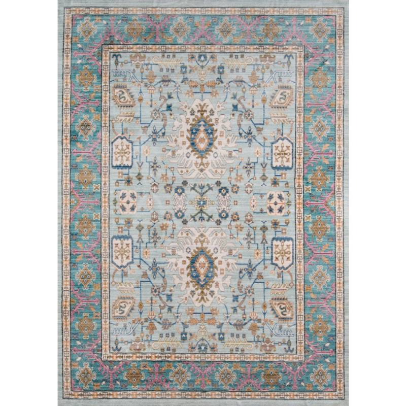 Flori Rug, Light Blue