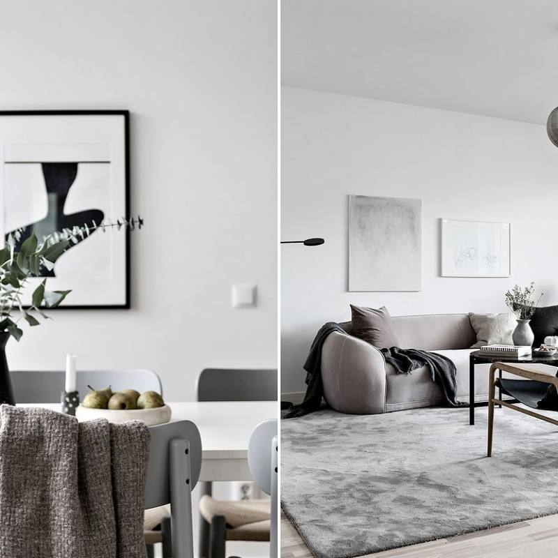 Grey contemporary Scandinavian Interior Design