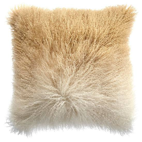 Ombre Mongolian Pillow 22""