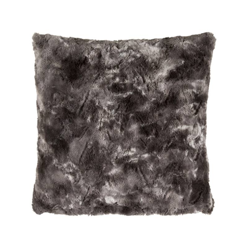 Lulina Faux Fur Pillow, Charcoal