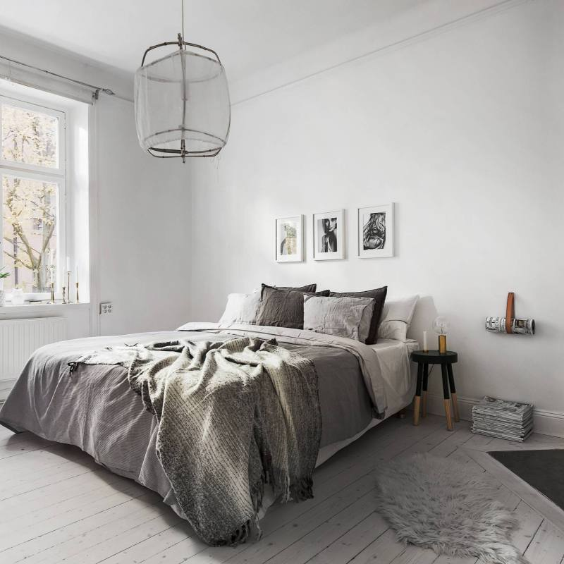 Simple minimalist Scandinavian Bedrooms
