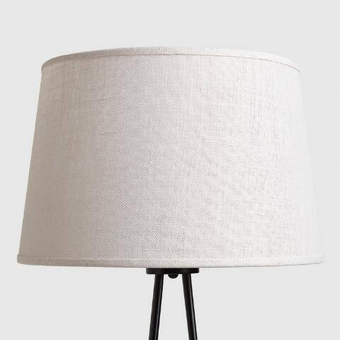 Marshmallow White Burlap Floor Lamp Shade