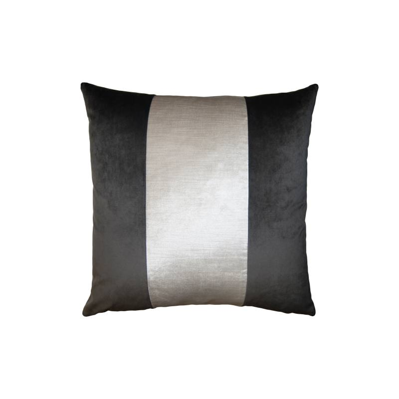 Stone Ivory Band Accent Pillow