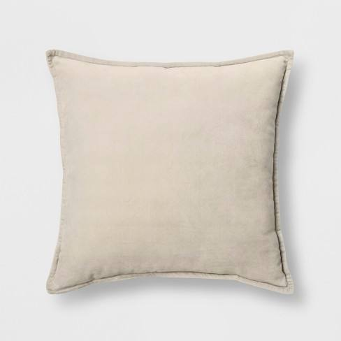 Solid Velvet With Zipper Closure Square Throw Pillow - Threshold�