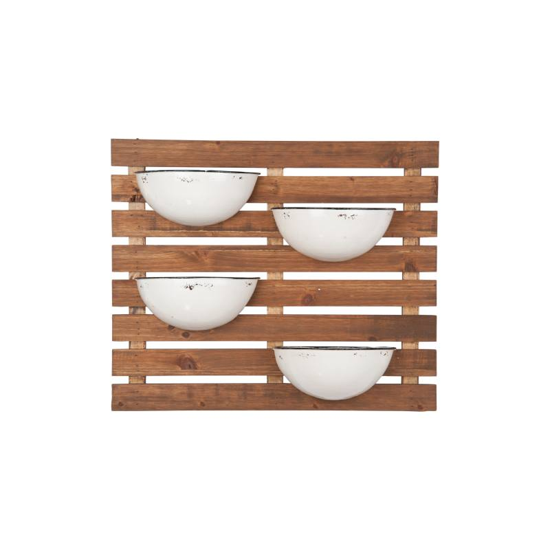 Enamel Pot Wall Planter