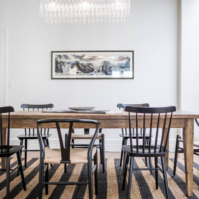 Get the look: Modern bright farmhouse dining room