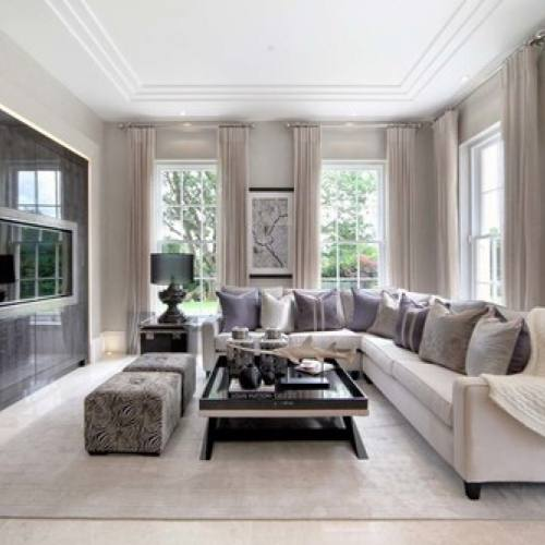 Cream traditional modern living room