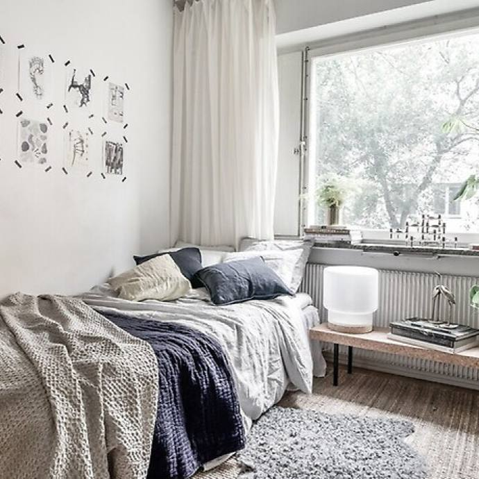 Small cozy casual bedroom