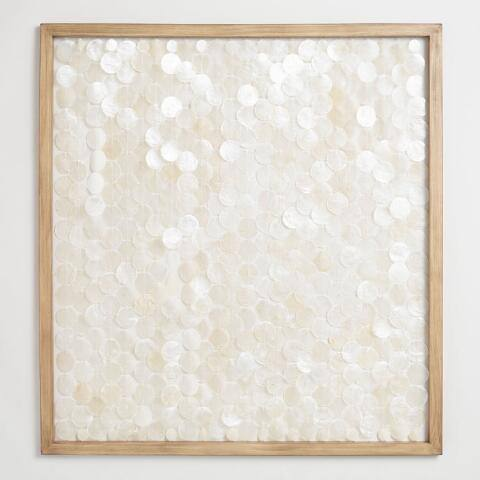 Capiz Shell Framed Wall Art