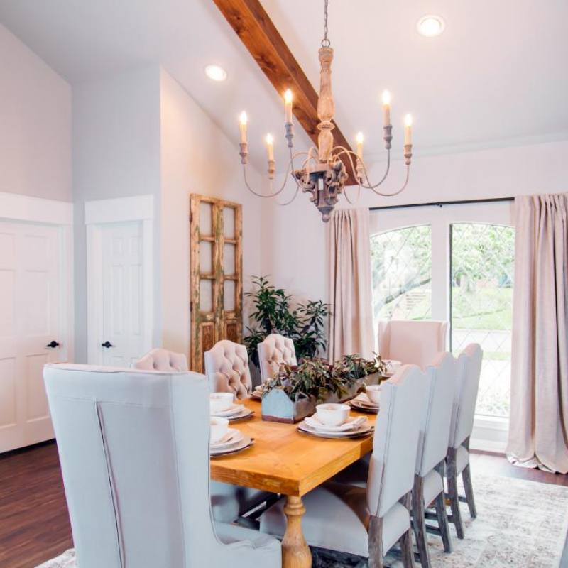 Fixer Upper traditional dining room