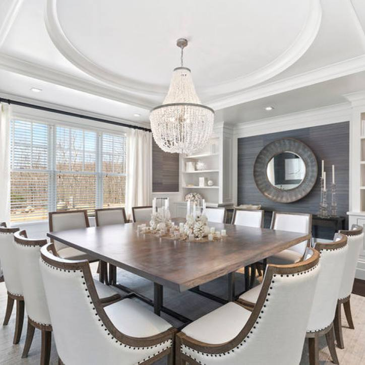Elegant transitional formal dining room